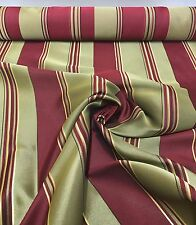 LUXURIOUS TEMPO GOLD RED DAMASK FABRIC 6 METRE