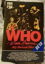 Vintage The Who Rocks America 1982 Tour Beta Movie Nice Shape