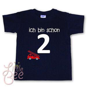 GEBURTSTAG T-Shirt * ich bin schon 2 * WAHL: Motiv, Wunschname, Größe, Farbe NEU