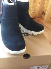 UGG PALOMAR SNEAKER BLACK WATERPROOF SUEDE ANKLE FASHION BOOTS SIZE US 8.5 NEW