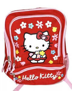 Hello Kitty Backpack Bag Floral Red School
