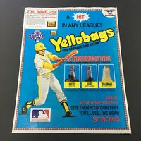 VTG Retro 1985 Yellobags For Garbage and Trash Print Ad Coupons