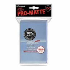 Ultra PRO 84731 Pro-Matte Clear Standard Deck Protectors - Pack of 100