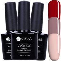 3Pcs 7.5ml Nail UV/LED Gel Polish Soak Off Gel Varnish Nail Art Kit UR SUGAR