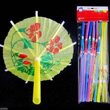 20 Cocktail Umbrella Drinking Straw Assorted Party BBQ Hawaiian Theme Decoration
