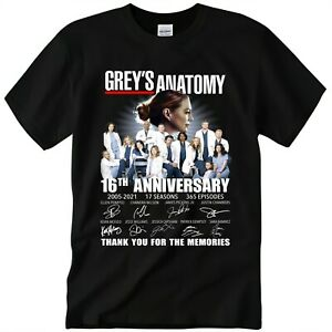 Grey's Anatomy 16th Anniversary Signatures Thank You T-Shirt Size S-3XL