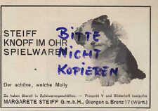 GIENGEN, Werbung 1926, Margarete Steiff GmbH Qualitäts-Spiel-Waren Knopf im Ohr