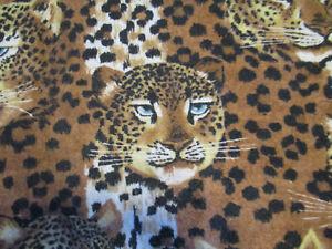 "Large Cheetah Print Wall Hanging Art Throw Blanket 5'4"" by 7'9"""