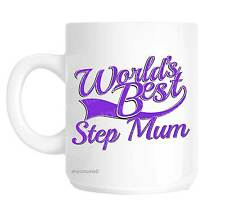 Step Mum World's Best Purple Mother's Day Novelty Gift Mug Shan824