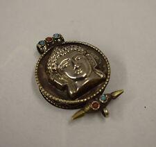 Buddha Silver Amulet Pendant Tibetan Amlet Box
