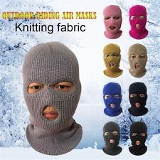 Face Ski Winter Cap 3 Hole Balaclava Beanie Hat Hood Tactical Warm Hats