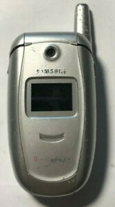 READ BEFORE U BUY Samsung SGH E315 (T-Mobile) Silver Cell Phone Fair Used
