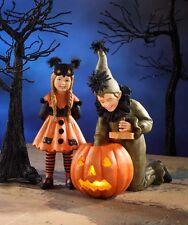 Lighting the Pumpkin Halloween Figurine Votive Candle Holder Bethany Lowe CP5903