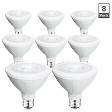 BLUEFIRE 10W PAR30 Short Neck LED Spotlights, 5000K Daylight, 880Lm, 8-Pack