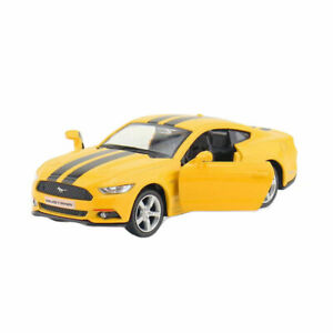 1/36 Ford Mustang 2015 Model Car Metal Diecast Toy Vehicle Pull Back Kids Yellow