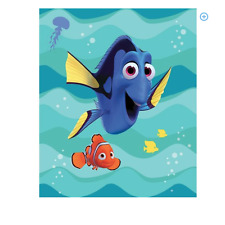 "Disney Finding Dory Sting Ray Friends Blanket 62"" x 90"" Super Soft"