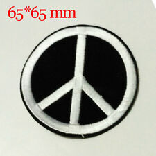 Peace mark Design Embroidered Clothes Iron On Patches Sew Motif Applique badge
