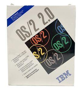 New Sealed Vintage 1992 IBM OS/2 2.0 Intel386 3.5 Diskette Collectible NIB