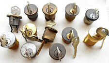 LOT of 12  lock  Mortise  cylinders  w/keys  LOCKSMITH ,COLLECTORS