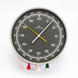 Junghans Wall Mounted Mechanical Darkroom Process Timer Stop Clock Grey Germany