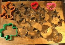 Lot Of 17 Vintage Tin And Plastic Cookie Cutters