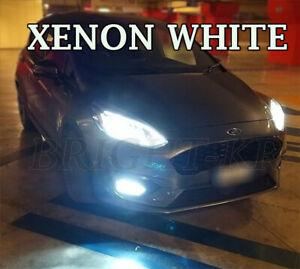 Fits FORD FIESTA MK8 CANBUS SMD LED Fog Light Bulbs - XENON 6000K WHITE