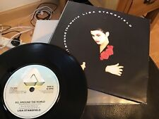 LISA STANSFIELD . ALL AROUND THE WORLD . 1989 LIMITED EDITION POSTER SLEEVE .