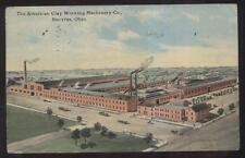 POSTCARD BUCYRUS OH/OHIO AMERICAN CLAY MACHINERY FACTORY BIRD'S EYE 1907