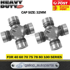 2 x Universal Joint fit Toyota Landcruiser 40 60 70 75 78 80 100 Series F&R 32MM