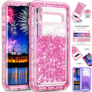 Glitter Bling Liquid Quicksand Armor Case Cover for Samsung Galaxy S10 S20 Ultra