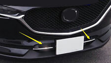 2* Chrome Front Bottom Grille Grill Cover Trim For Mazda CX-5 2nd Gen 2017 2018