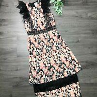 FOXIEDOX size Small NWT black Gloria lace midi dress