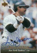 REGGIE JACKSON Autograph 1995 Upper Deck Card # AC1, Certified Autograph