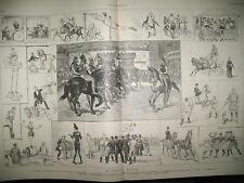 2209 CIRQUE MOLIER CHEVAUX OPERA SIGURD LASSALLE EST GUNTHER L'ILLUSTRATION 1885