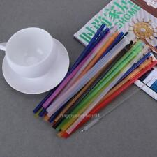 25x Hard Plastic Drinking Colorful Straw Decor Party Reusable Christmas Wedding
