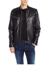 New G-Star Raw Mens Mower Leather Jacket in Black Colour Size XXL RRP$900.00