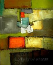 ABSTRACT PAINTING - Original Modern ABSTRACT ART - contemporary ART by SLAZO