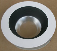 "NEW Halo 493BBS06 6"" Regressed Solute Downlight Reflector Wht Trim w/ Blk Baffle"