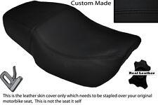 BLACK STITCH CUSTOM FITS APRILIA AF1 125 50 EUROPA DUAL LEATHER SEAT COVER