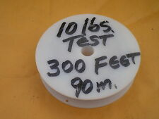 STAINLESS STEEL WIRE LEADER 300 FEET (90m.) 10 lbs. TEST, 1X3 STRAND, COATED