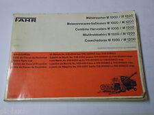 Teilekatalog Spare Parts List Fahr Mähdrescher M 1000 / M 1200 ab Nr. 1115-0324