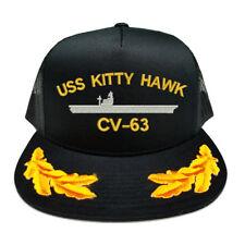 USS KITTY HAWK CV-63 SCRAMBLED EGGS YUPOONG MESH TRUCKER CAP HAT