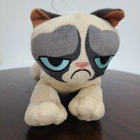 "Grumpy Cat Plush Stuffed Toy Factory 9"" Blue Eyes Hanging Loop"