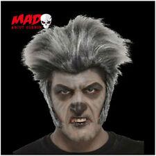 Gris Hombre Lobo Peluca Para Halloween Hombre Lobo/Zombie Disfraz De Película De Terror/Máscara