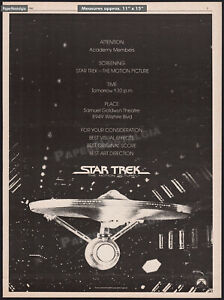 STAR TREK: The Motion Picture__Original 1980 Trade AD / screening promo / poster