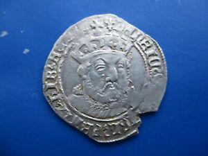 HENRY VIII GROAT , STUNNING PORTRAIT , HAMMERED COIN , MINTMARK LIS