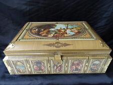 Italian Renaissance Style Mythological Embossed Romantic Scenes Biscuit Tin