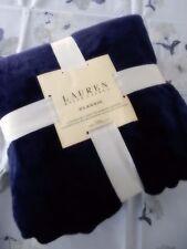 RALPH LAUREN Classic KING BLANKET NWT BLUE NAVY SOFT MICROMINK FLEECE