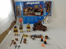 Playmobil Partial Set 3653 Catapult Medieval Lion Knights w/ Stones, Mugs Flames