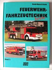 Livre pompiers en allemand FEUERWEHR - FAHRZEUGTECHNIK